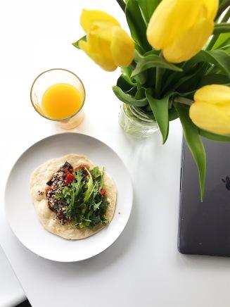 Lunch time! Ratatouille, quinoa, and arugula salad